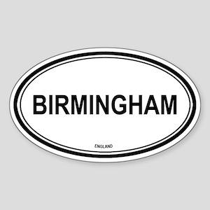 Birmingham, England euro Oval Sticker