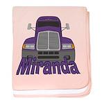 Trucker Miranda baby blanket
