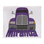 Trucker Miranda Throw Blanket