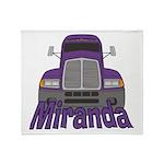 Trucker Miranda Throw Blanket