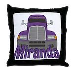 Trucker Miranda Throw Pillow