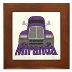 Trucker Miranda Framed Tile