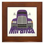 Trucker Miranda Framed Tile