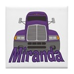 Trucker Miranda Tile Coaster