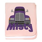 Trucker Misty baby blanket