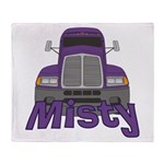 Trucker Misty Throw Blanket