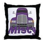 Trucker Misty Throw Pillow