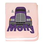 Trucker Molly baby blanket