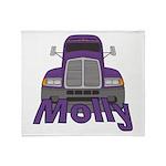Trucker Molly Throw Blanket
