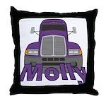 Trucker Molly Throw Pillow