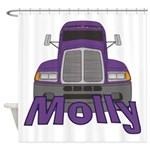 Trucker Molly Shower Curtain