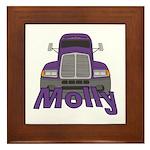Trucker Molly Framed Tile