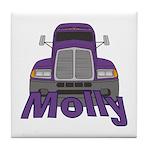 Trucker Molly Tile Coaster