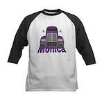 Trucker Monica Kids Baseball Jersey