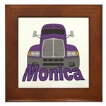 Trucker Monica Framed Tile