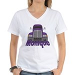 Trucker Monique Women's V-Neck T-Shirt