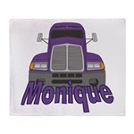 Trucker Monique Throw Blanket