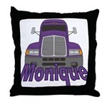 Trucker Monique Throw Pillow
