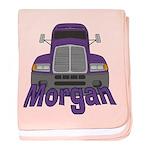 Trucker Morgan baby blanket