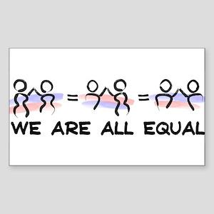 Equal Pairs Logo Sticker (Rectangle)