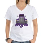 Trucker Mya Women's V-Neck T-Shirt
