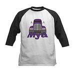 Trucker Mya Kids Baseball Jersey
