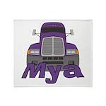 Trucker Mya Throw Blanket