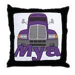 Trucker Mya Throw Pillow