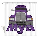 Trucker Mya Shower Curtain