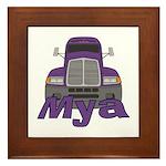 Trucker Mya Framed Tile