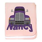 Trucker Nancy baby blanket