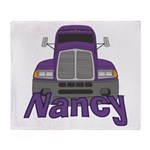 Trucker Nancy Throw Blanket
