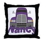 Trucker Nancy Throw Pillow