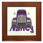 Trucker Nancy Framed Tile