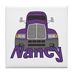 Trucker Nancy Tile Coaster