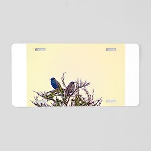 Pair of Starling Birds Aluminum License Plate