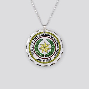 Great Seal of the Cherokee Nation Necklace Circle