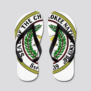 Great Seal of the Cherokee Nation Flip Flops