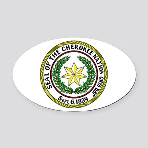 Great Seal of the Cherokee Nation Oval Car Magnet
