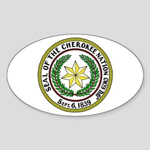 Great Seal of the Cherokee Nation Sticker (Oval)