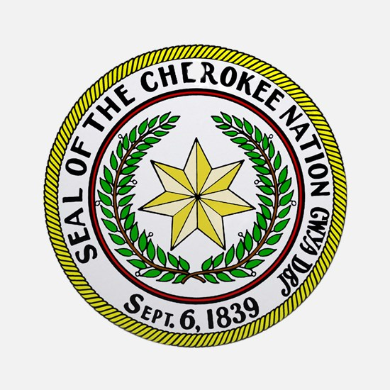 Great Seal of the Cherokee Nation Ornament (Round)