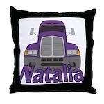 Trucker Natalia Throw Pillow