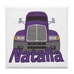 Trucker Natalia Tile Coaster
