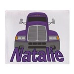 Trucker Natalie Throw Blanket