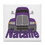 Trucker Natalie Tile Coaster