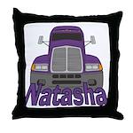 Trucker Natasha Throw Pillow