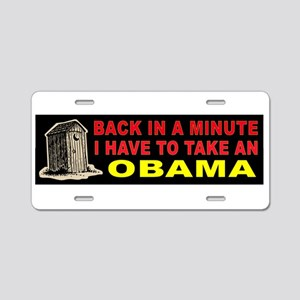 OBAMA CRAP Aluminum License Plate