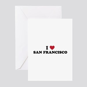 I Love San Francisco California Greeting Cards (Pk
