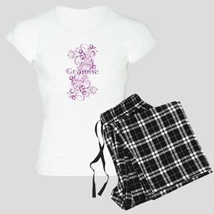 Grannie Grandma Flowered Women's Light Pajamas