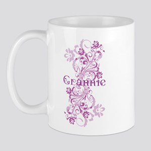 Grannie Grandma Flowered Mug